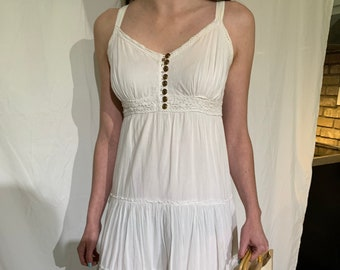 90s white cotton sundress