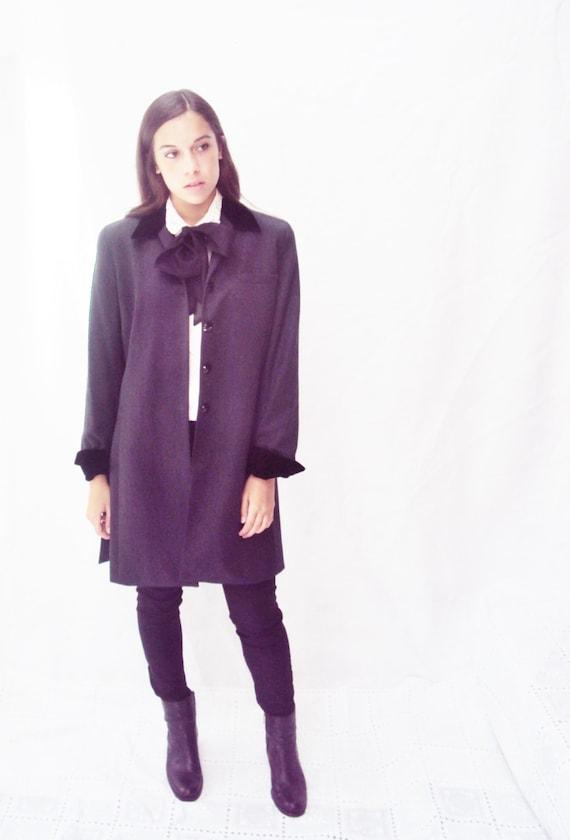 vintage 80s EDWARDIAN blazer, Velvet Collar, MOD, Edwardian style, med