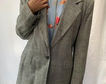 gray blazer / Glenn Plaid gray blazer / m