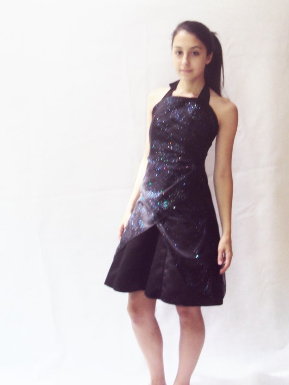 80s tulle sparkly dress / HOLOGRAPHIC dress / s, m