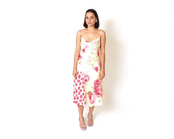 3bdf4fe88aeda4 Floral Silk Slip Dress Small