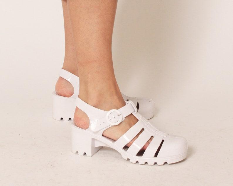 c6aa43e2ccea Vintage Mary Jane Jelly Shoes Size 8