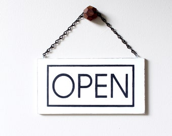 Modern Business Sign, Open Sign, Closed Sign, Custom Sign, Store Sign, Office Sign, Wall Art, Wood Sign