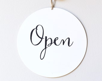 Open Closed Business Sign, Custom Sign, Store Sign, Window Sign, Office Sign, Wall Art, Wood Sign