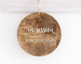 in session sign etsy