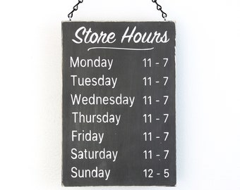 Business Hours Sign, Store Hours Sign, Wall Signs for Business, Boutique Sign, Shop Hours Sign, Custom Business Sign