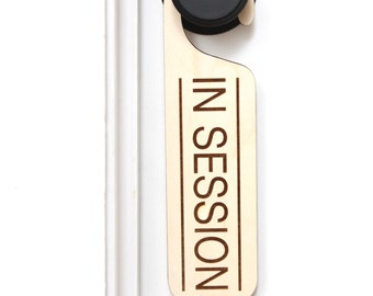 In Session Door Hanger Sign, Office Sign, Home Office Door Sign Hanger, Office Sign, Wood Sign In Session