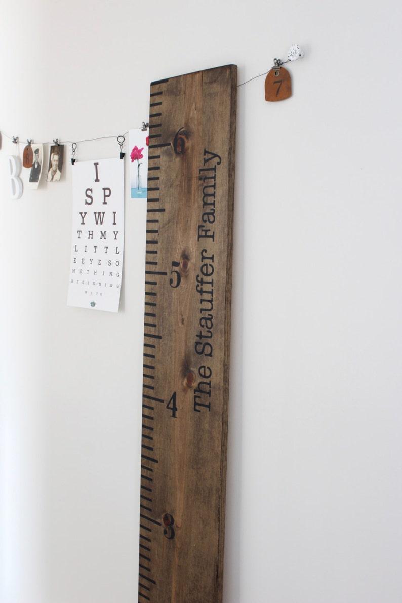 Keepsake Ruler Wood Growth Chart Large Ruler Sign Childrens image 0