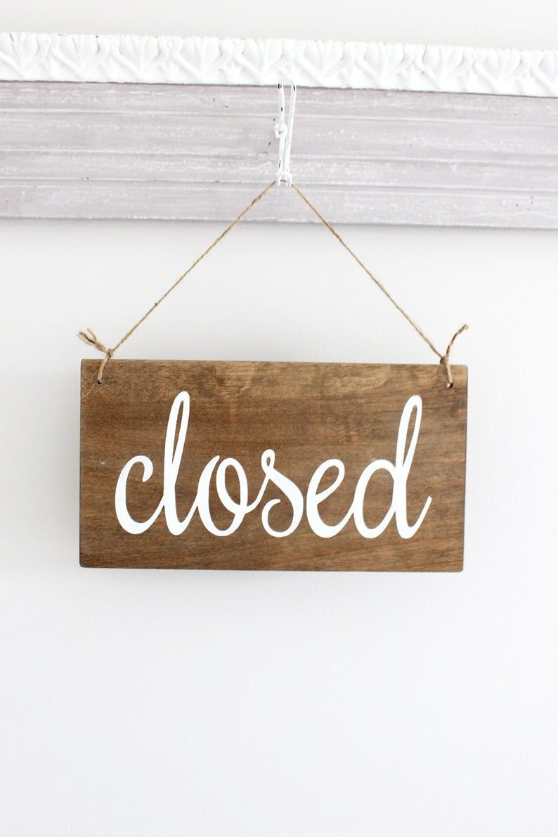 Open Closed Business Sign Open Sign Closed Sign Custom image 0