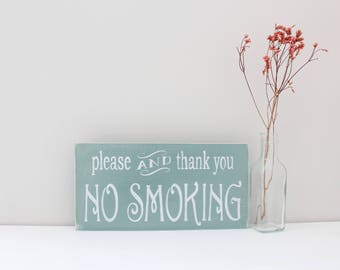 No Smoking Sign, Smoking Sign, Business Sign, Office Decor,  Wood Sign