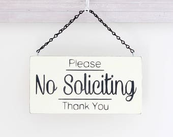 No Soliciting Sign, Soliciting Sign, Custom Sign, Hanging Sign, Wood Sign, Vintage Sign