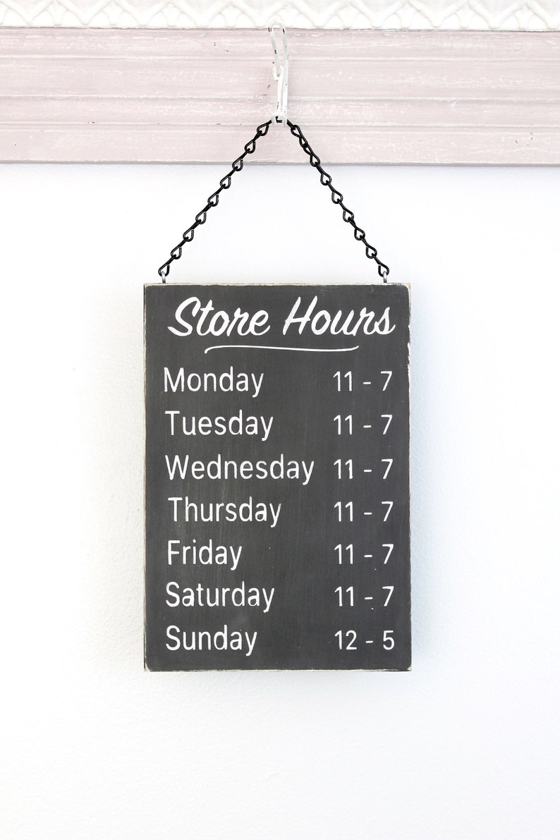 Business Hours Sign Store Hours Sign Wall Signs for image 0