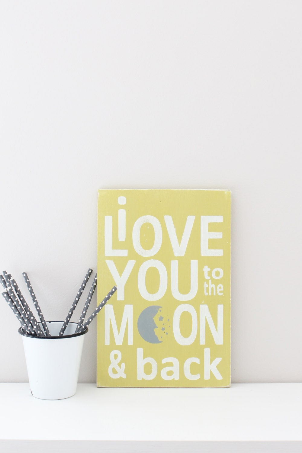 I Love You to the Moon and Back Wall Art Wood Sign Custom | Etsy