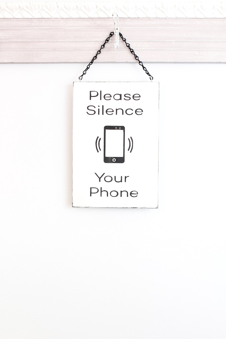 No Cell Phone Silence Your Phone Business Sign Wall Art image 0