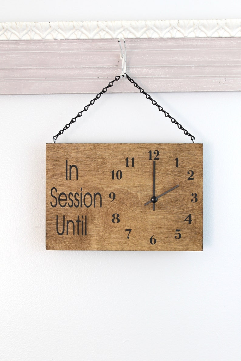 In Session Clock Sign Will Return Clock Sign Clock Sign image 0