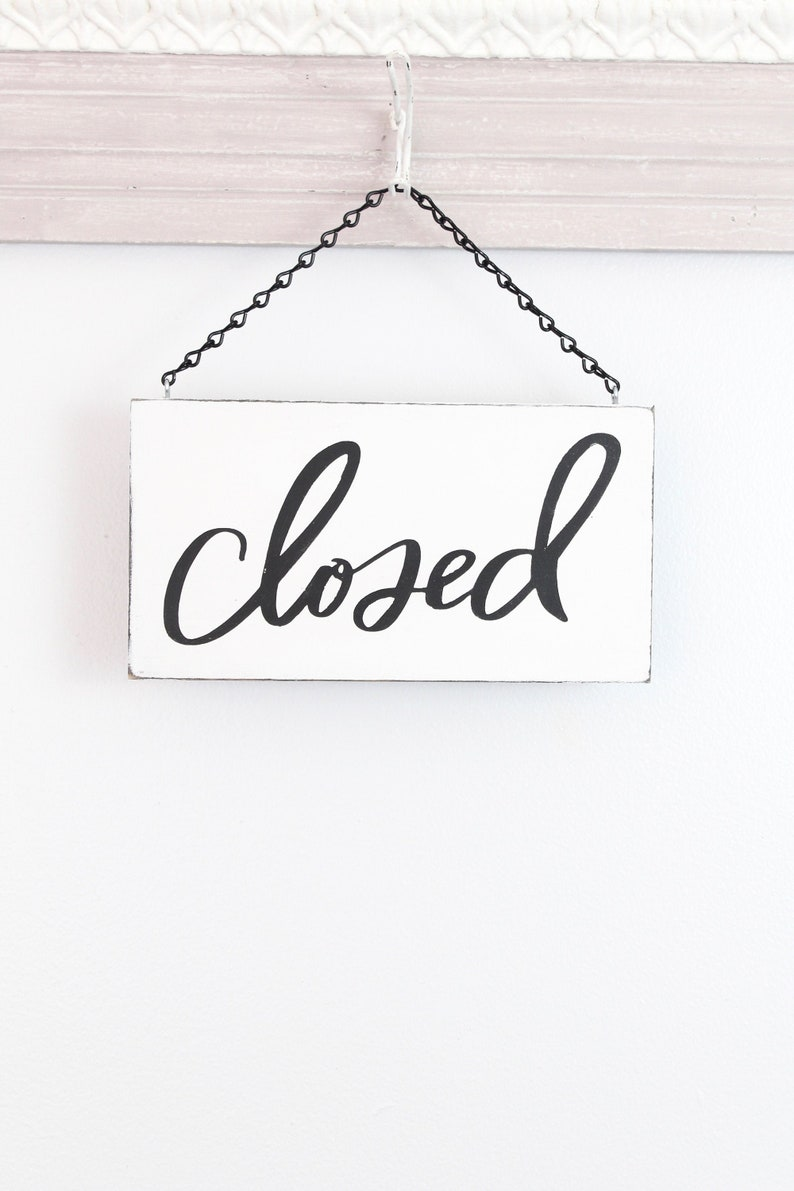 Open Sign Closed Sign Business Open Sign Custom Sign Store image 0