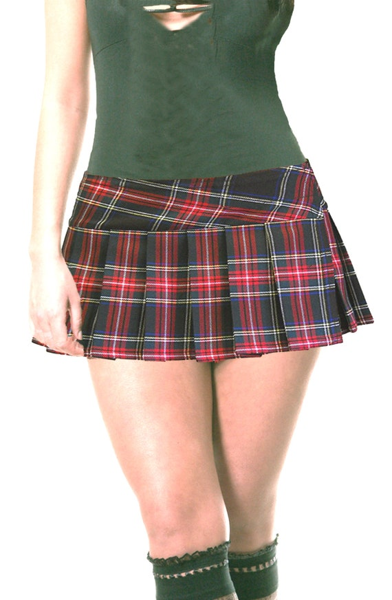 Junior To Plus Size Red And Black Schoolgirl Plaid Pleated Etsy