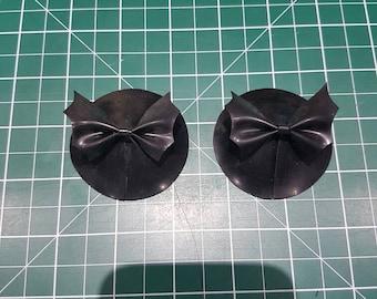 Latex Bat Bow Pasties
