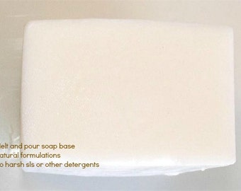 Goat's Milk Melt and Pour Soap Base made with pure Goat's Milk 1 lb Wrapped