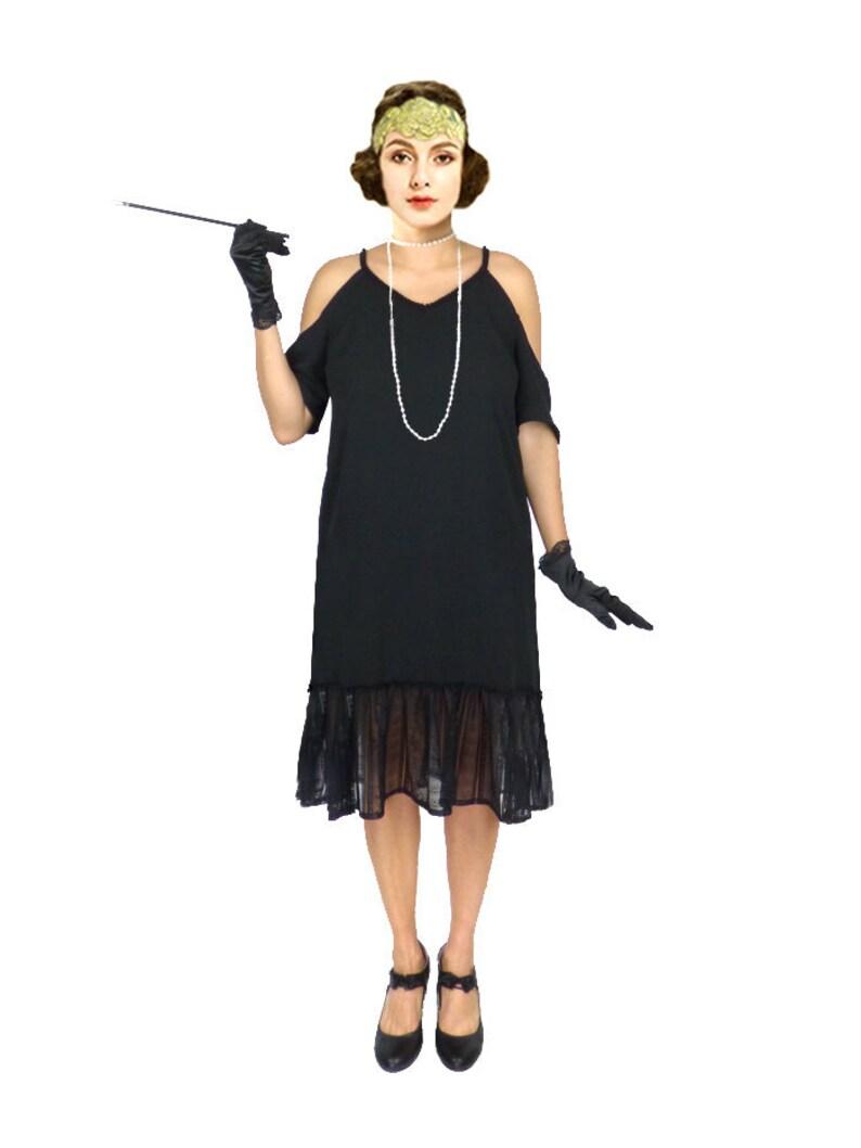 f30ddd11ef 1920s Dress Roaring 20s Dress Black Flapper Dress Black | Etsy