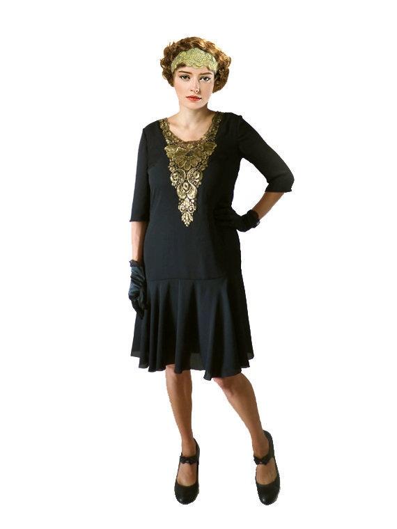 1920s Dress Flapper Dress Great Gatsby Dress Black Flapper Etsy