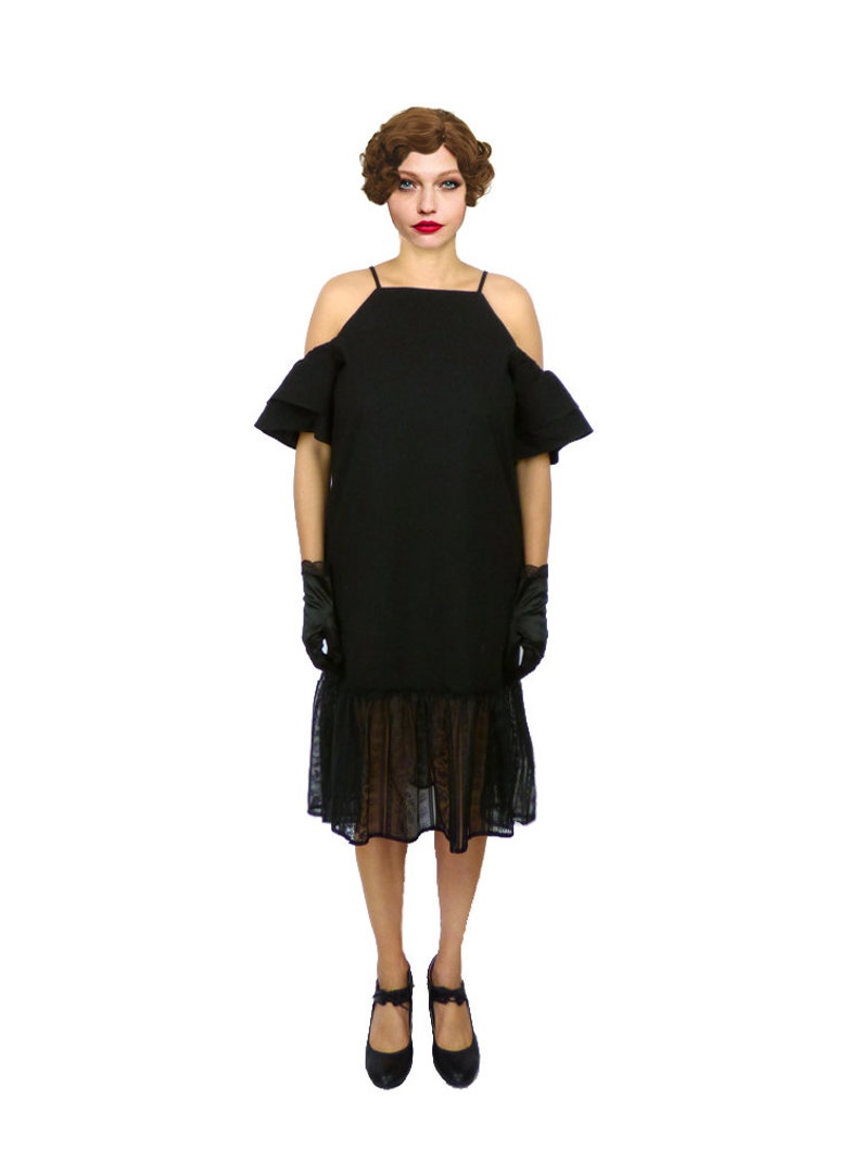 1920s Dress Roaring 20s Dress Black Flapper Dress Black | Etsy