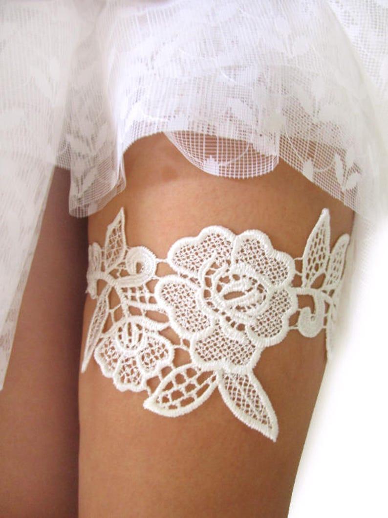 4d5b7d73b Ivory Lace Garter Wedding Garter Belt Bridal Garters Lace