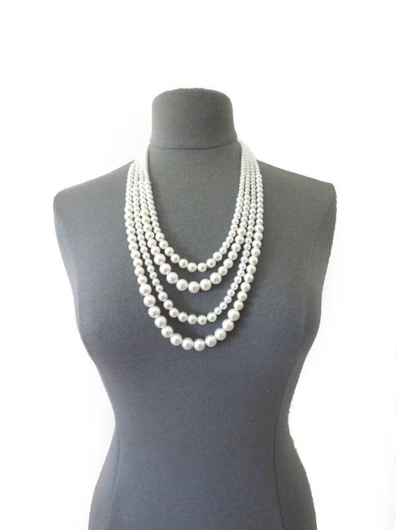 Perles Chaînes Colliers Femmes Chaîne Chaîne Perles 20er Ans Charleston Bijoux