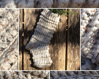 The Amara Crochet Christmas Stocking (Farmhouse Stocking)