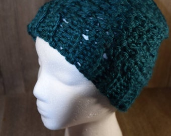 Bulky Messy Bun Hat ~ Crochet