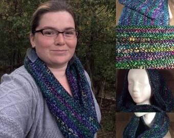 Aurora Borealis Crochet Cowl