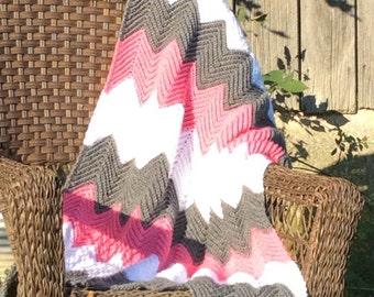 Custom Order:  Crib Size Crochet Cheverob Blanket ~*~Read Description!  Do not order from this item!~*~