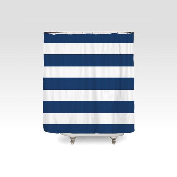 Preppy Stripes Striped Shower Curtain Horizontal Stripe