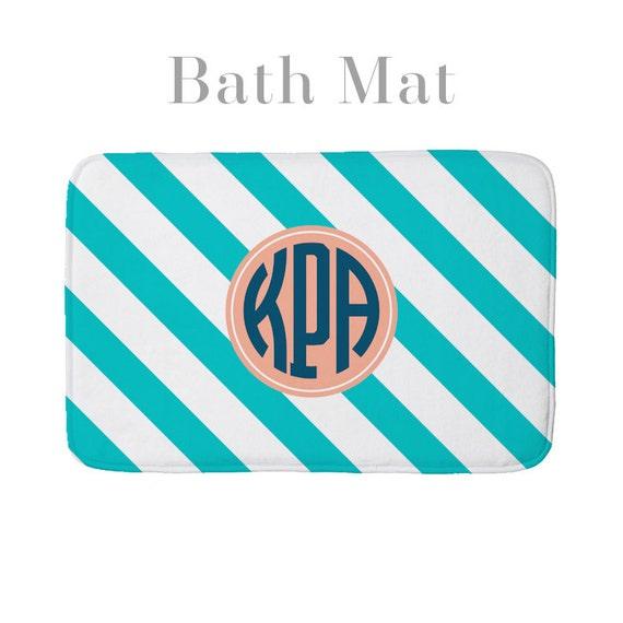 Bath Bathroom Floor Foam Mat Personalized Monogrammed Pattern Etsy