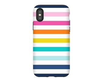 iPhone X Case, iPhone 8 Case, iPhone 8 Plus Case, iPhone 7 Case, iPhone 7 Plus Case, Galaxy S9, Google Pixel 2: Rainbow Stripes 3