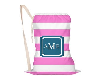 Design Your Own Laundry Bag, Laundry Bag, Laundry Tote, Laundry Drawstring Laundry Bag, Monogrammed: Pick Pattern, Colors, Font
