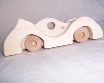 Wooden Car Roadrunner Style Made to Run for the Kids, the Children