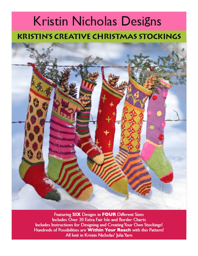 b4e8843f230 Kristin Nicholas  Creative Christmas Knit Stocking PDF