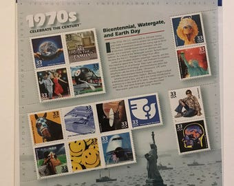1970's Celebrate the Century Series- US Postage Stamps (Mint, Brand New, Never Opened)