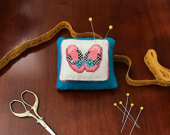 Cross Stitch Fun in the Sun Flip Flop Pin Cushion