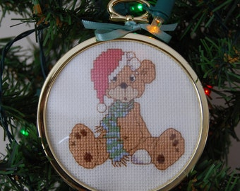 Precious Moments Snowball Fight Cross Stitch Ornament
