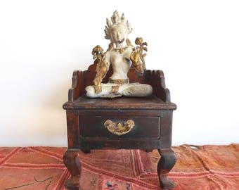 Mandir Singhasan Small Altar Antique Altar India Style Teak Singasan