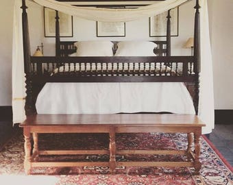 Teak Bench Traditional Furniture Colonial Bench Hallway Bench Bedroom Bench