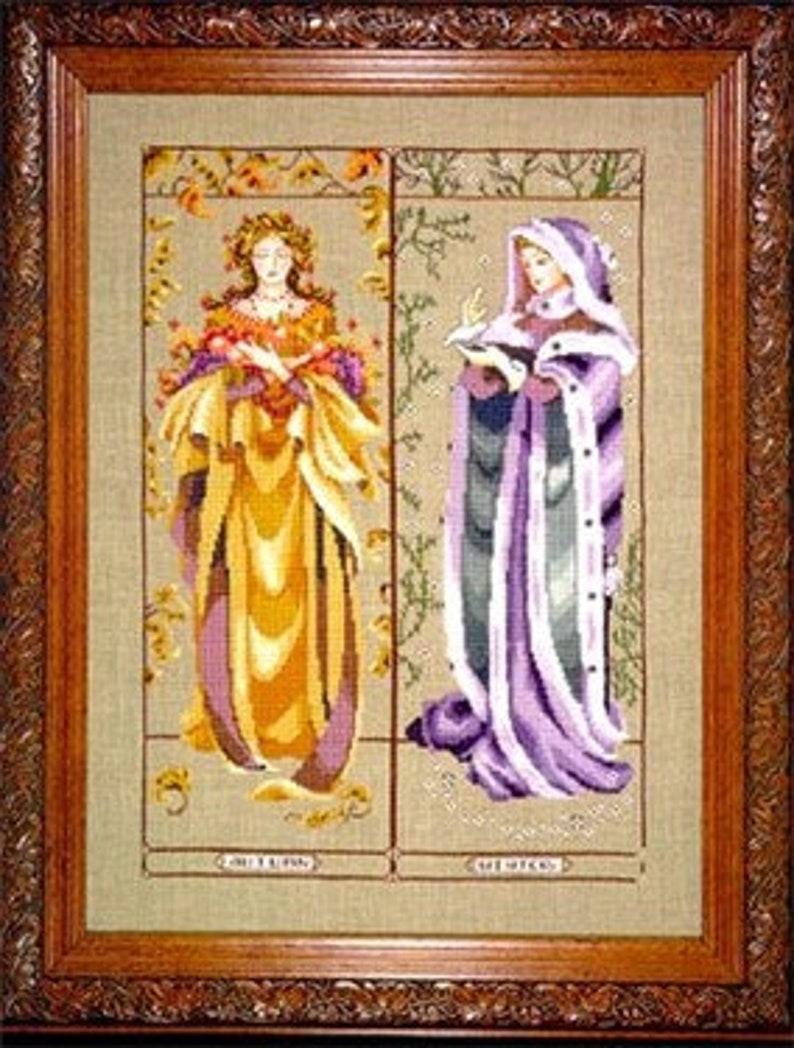 Maidens of the Seasons II  Mirabilia Cross Stitch Pattern  image 0