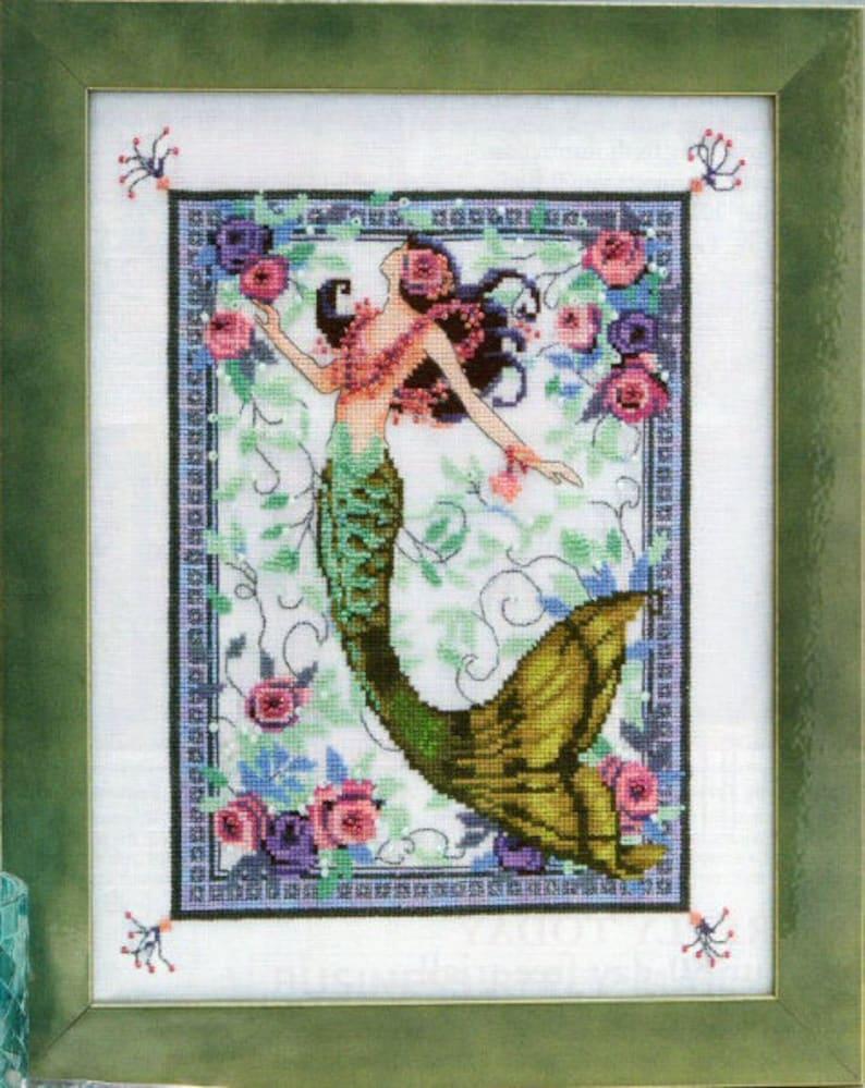 Moonlight Laguna Mermaid Cross Stitch Pattern  Nora Corbett image 0