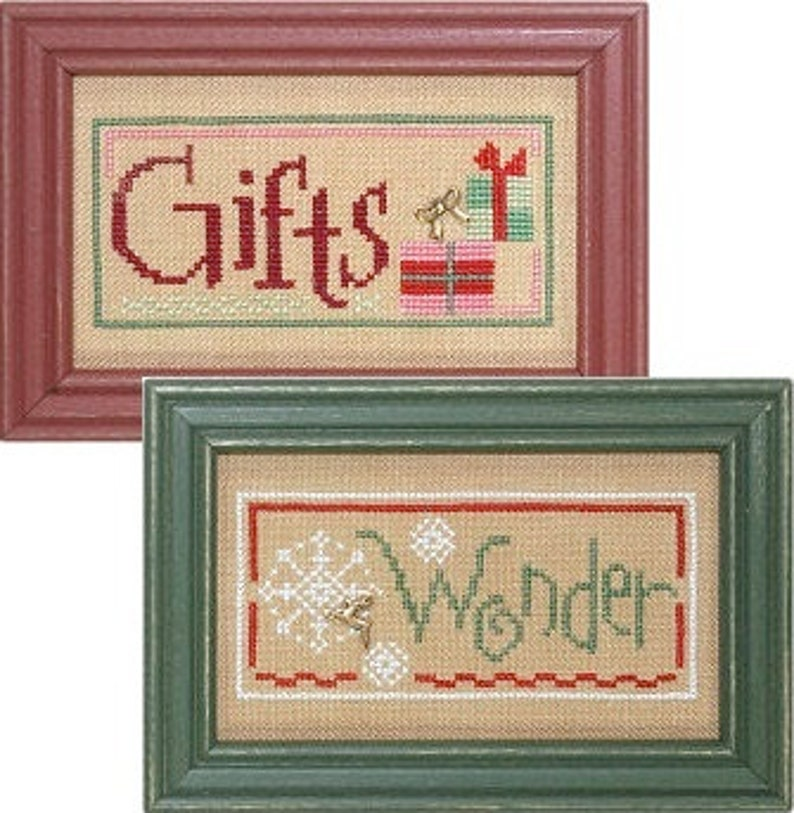 Lizzie Kate Christmas Double Flip Cross Stitch Pattern F80  image 0