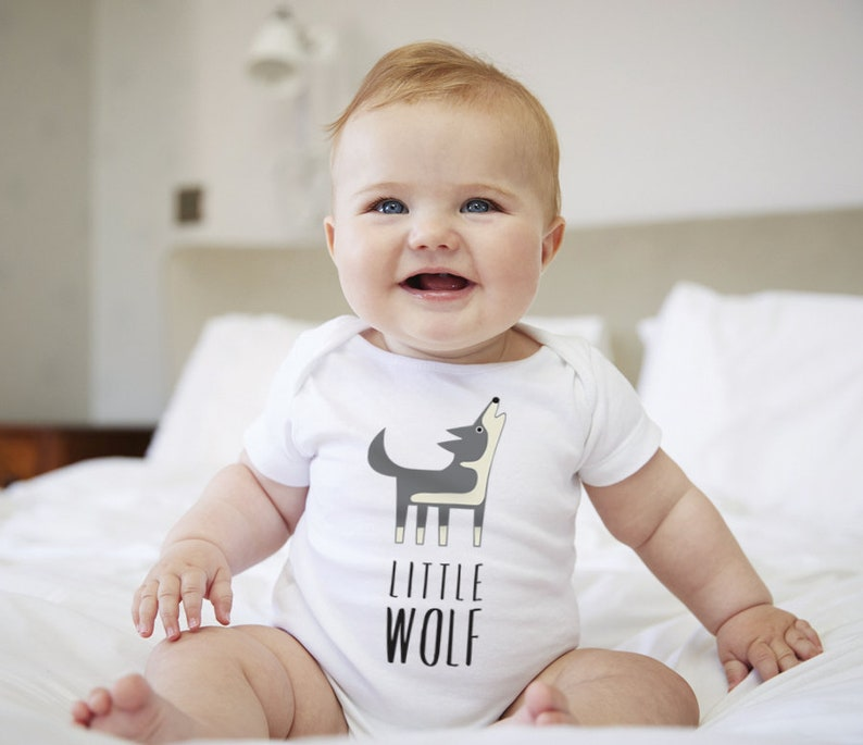 Wolf Color Short Sleeves Baby Bodysuits Outfits Infant Clothes Romper