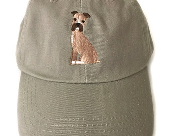 Boxer Baseball Cap, Boxer Khaki Ball Cap for Men or Women, Boxer Gift