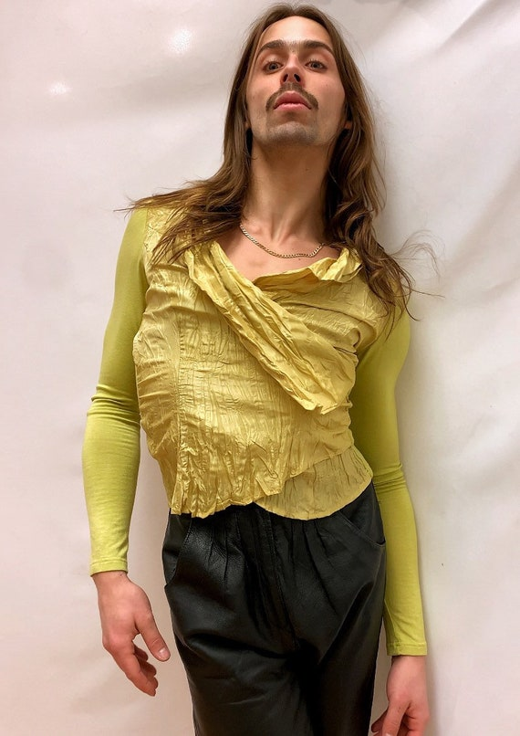 Chartreuse 90s Blouse - image 5