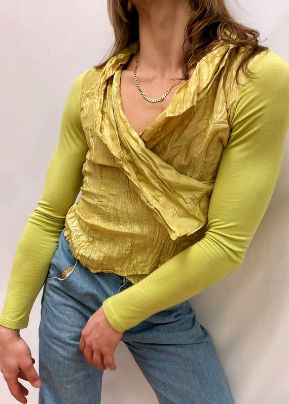 Chartreuse 90s Blouse - image 2